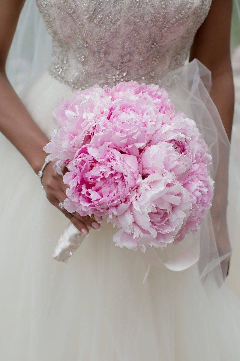pink peonies brides bouquet - Luxury Wedding Gallery