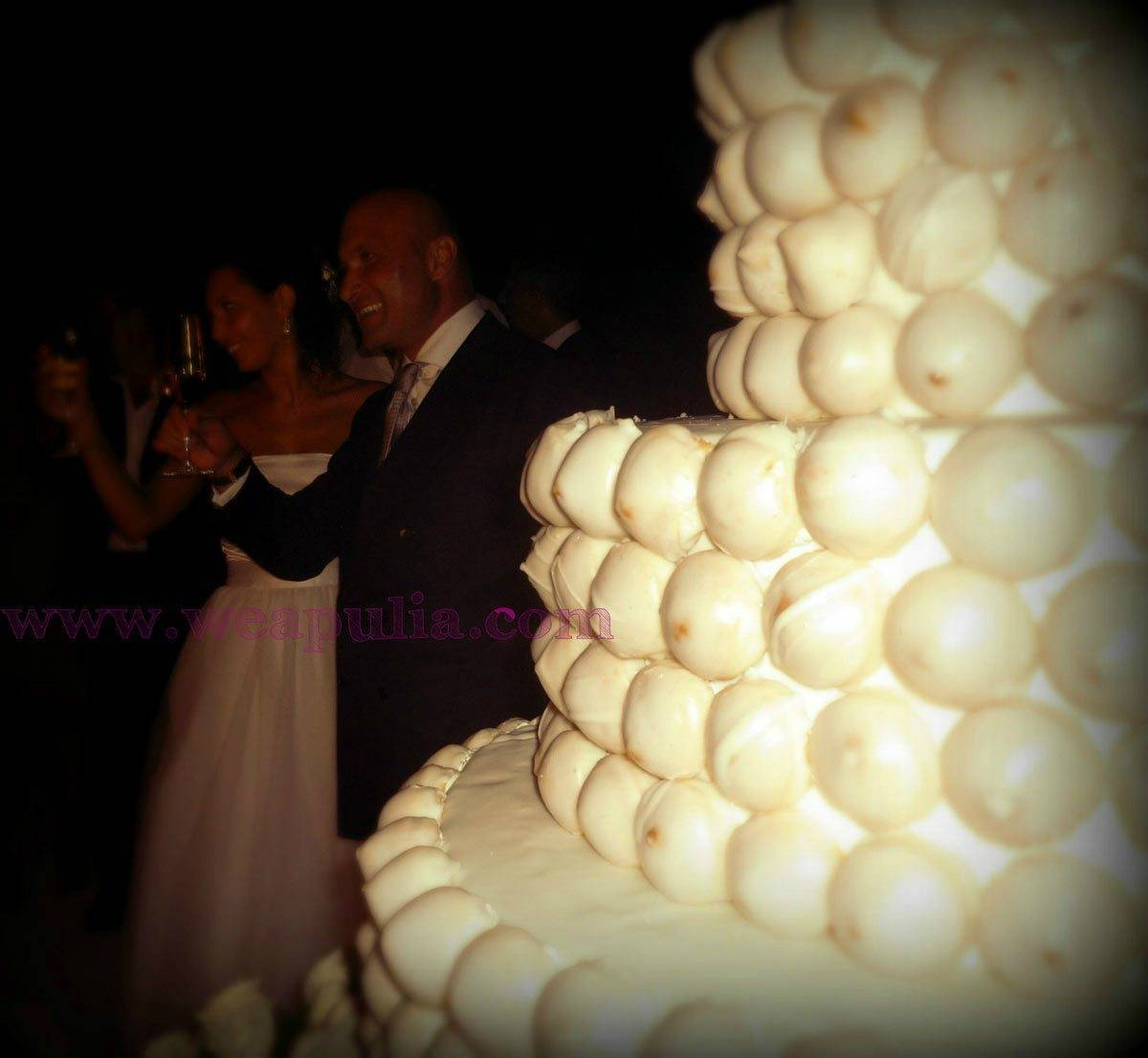wedding cake covered of tipical apulian pastries - Luxury Wedding Gallery
