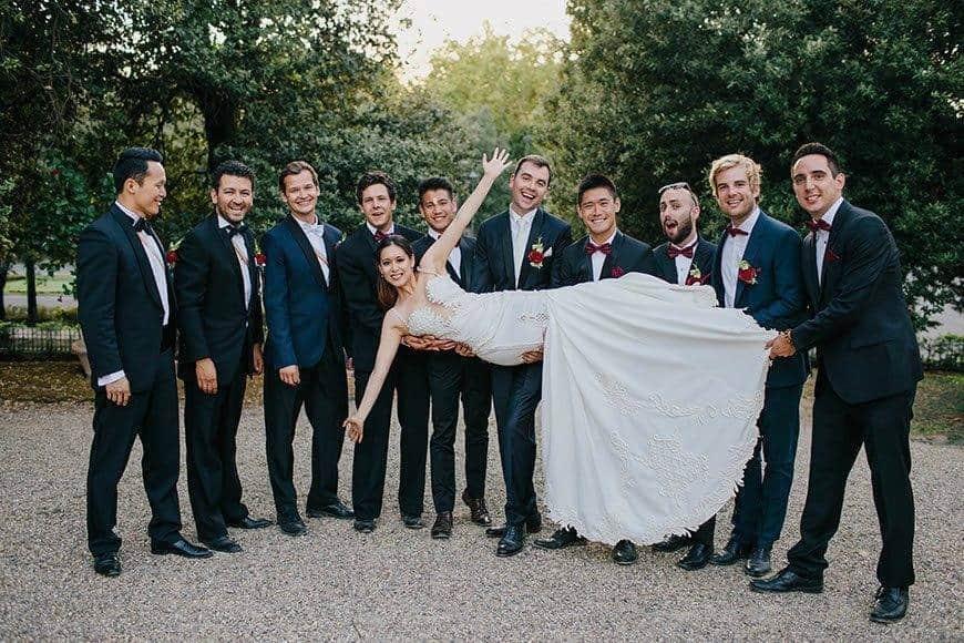 wedding la fete bride groom best men groomsmen - Luxury Wedding Gallery