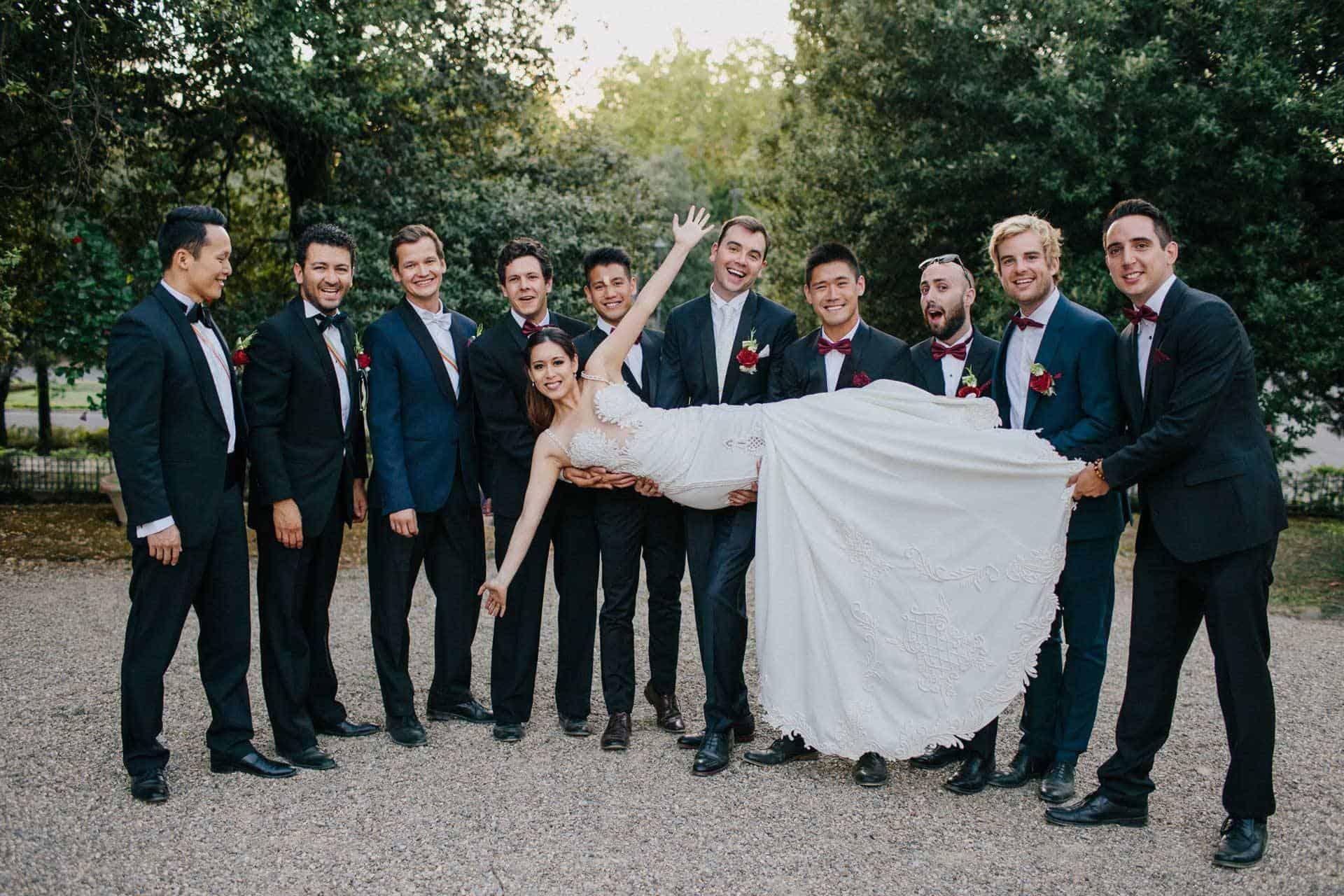 wedding la fete bride groom best men lead - Luxury Wedding Gallery