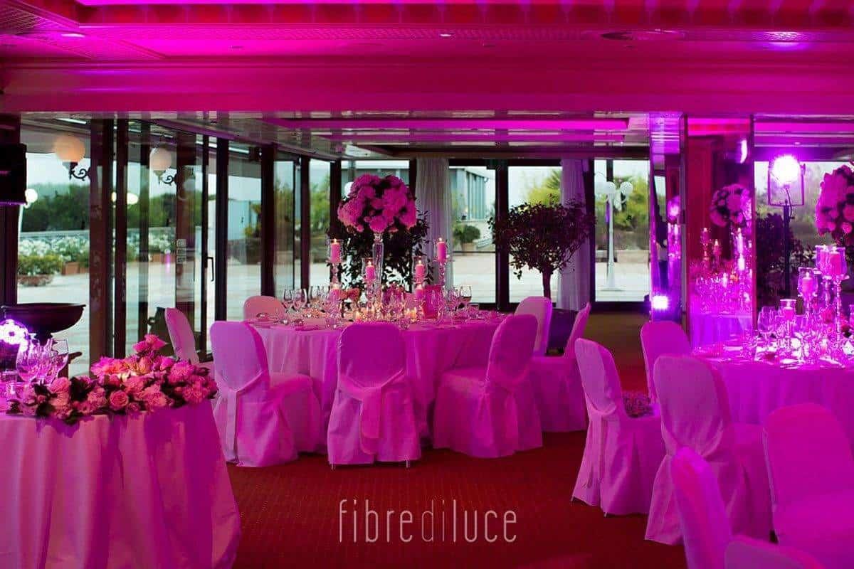 wedding reception in pink - Luxury Wedding Gallery