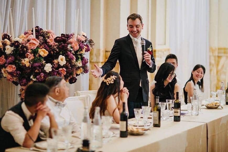 wedding speech la fete bride groom - Luxury Wedding Gallery