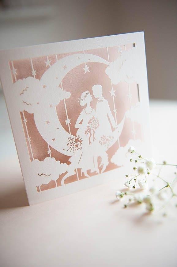 12Hummingbird cards laser cut Weding invitation papermoon - Luxury Wedding Gallery