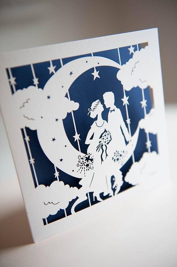14Hummingbird cards lasercut wedding invitation paper moon 8 - Luxury Wedding Gallery