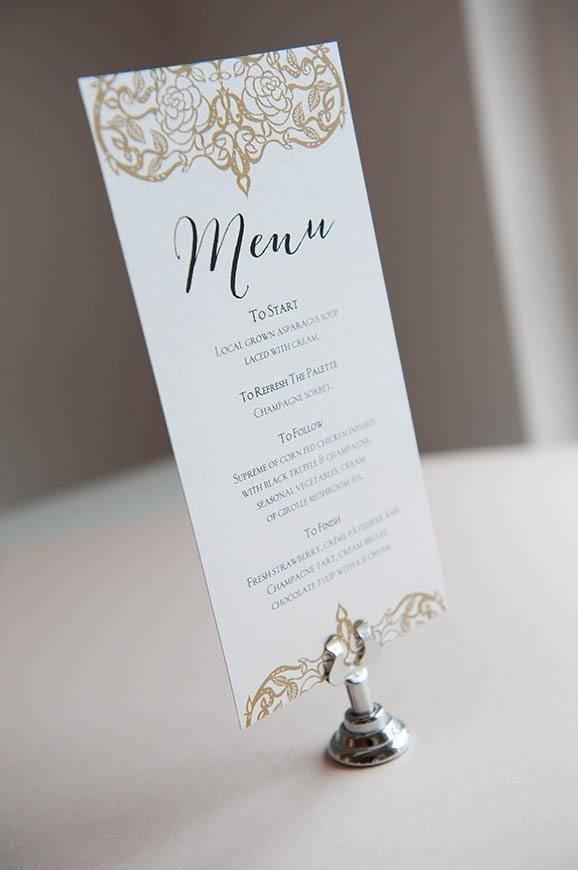 15 Hummingbird Cards menu - Luxury Wedding Gallery