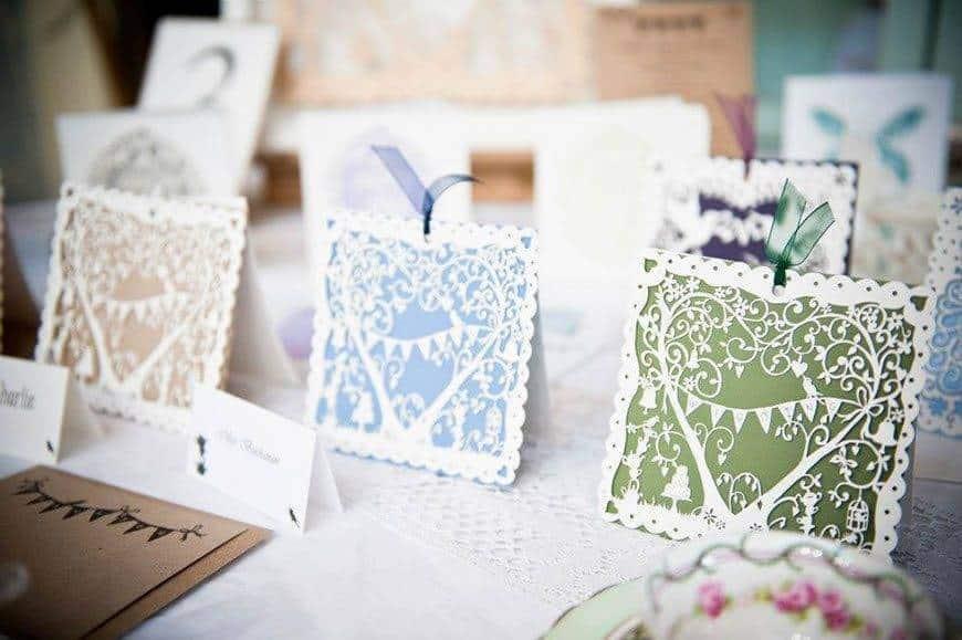 1Hummingbird cards lasercut wedding invitation Garden Party - Luxury Wedding Gallery