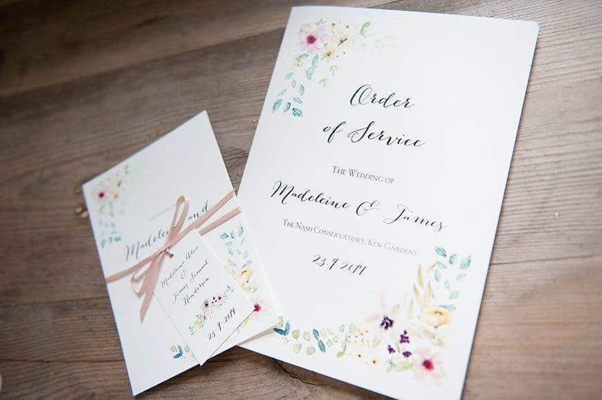 23Hummingbird Cards Botanicals wedding stationery - Luxury Wedding Gallery