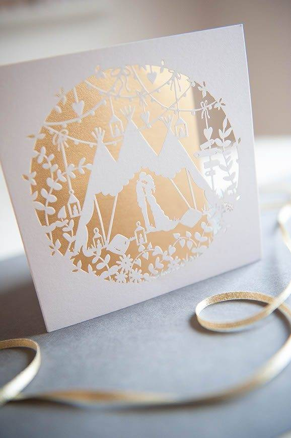 27Hummingbird cards lasercut festival wedding invitation - Luxury Wedding Gallery