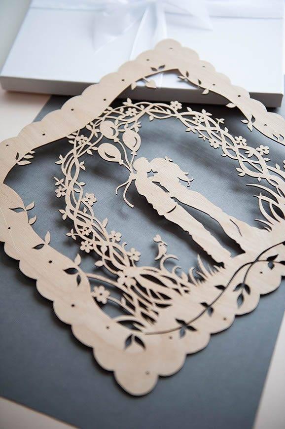 29Hummingbird Cards laser CUT wedding gift - Luxury Wedding Gallery