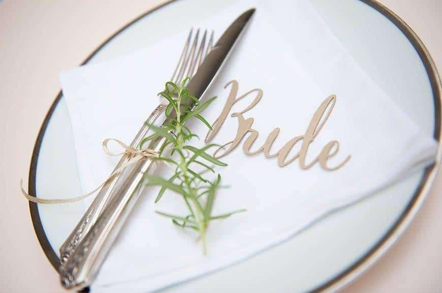30 Hummingbird Cards place Setting - Luxury Wedding Gallery