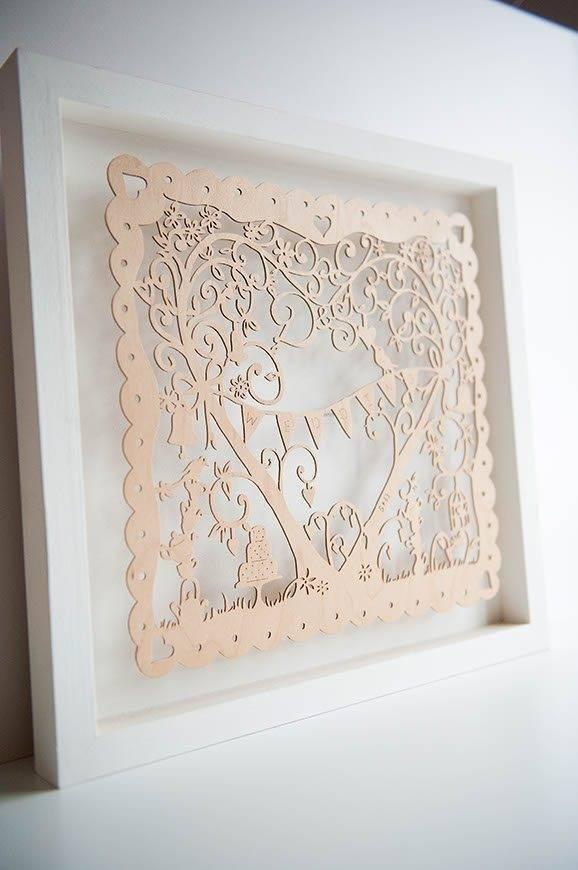 8 Hummingbird Cards lasercut wooden KEEPSAKE gift - Luxury Wedding Gallery