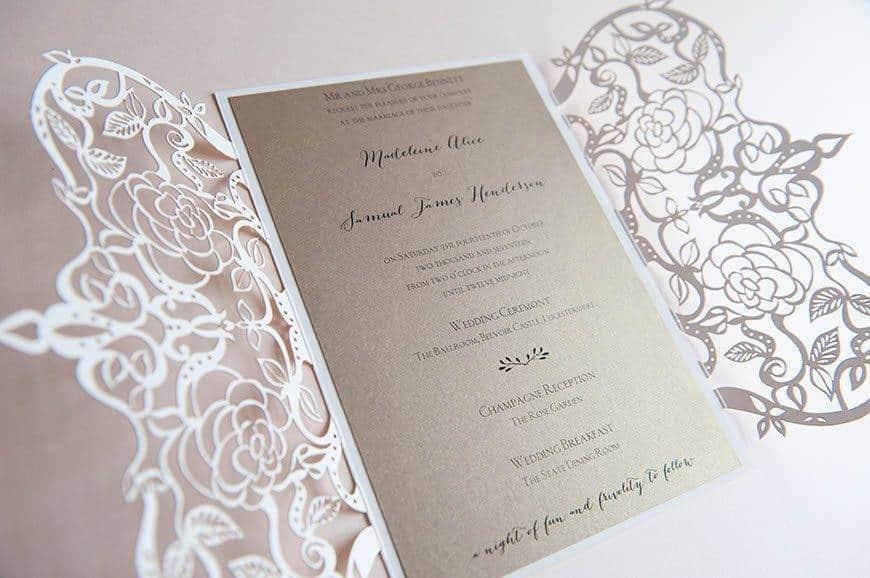 9 Hummingbird Cards lasercut wedding invitation - Luxury Wedding Gallery