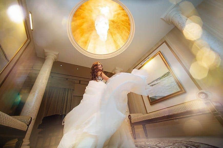 Bride in Presidential Suite - Luxury Wedding Gallery