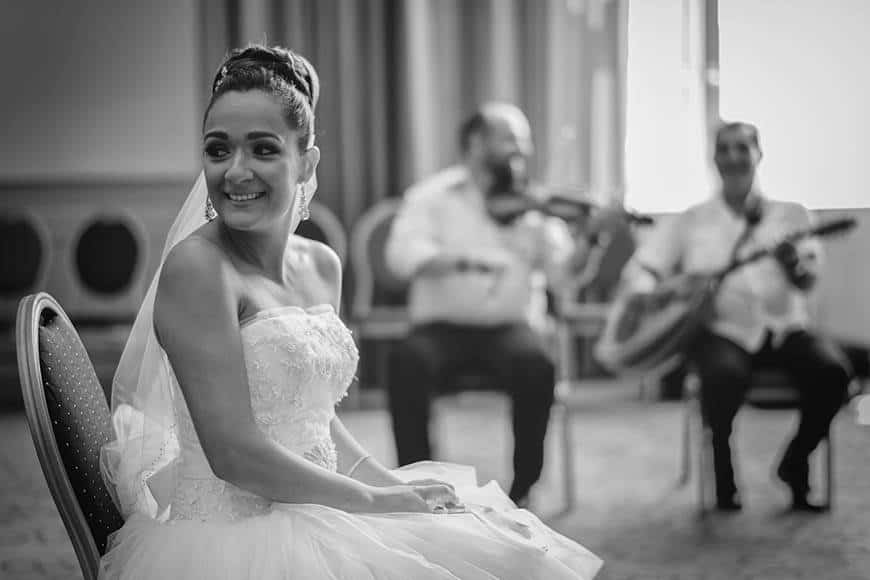 Bride getting ready ceremony in Cyprus with traditional music - Luxury Wedding Gallery