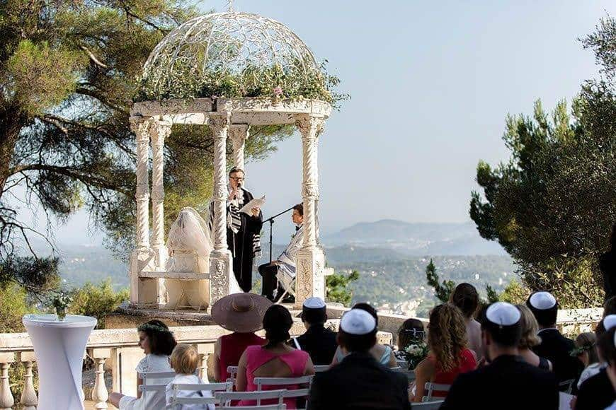 Ceremony with view at the Love Temple - Luxury Wedding Gallery