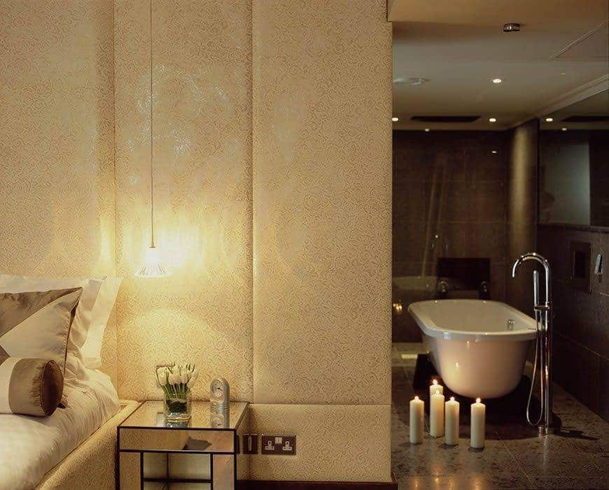 May Fair Amber Suite with View to the Bathroom - Luxury Wedding Gallery