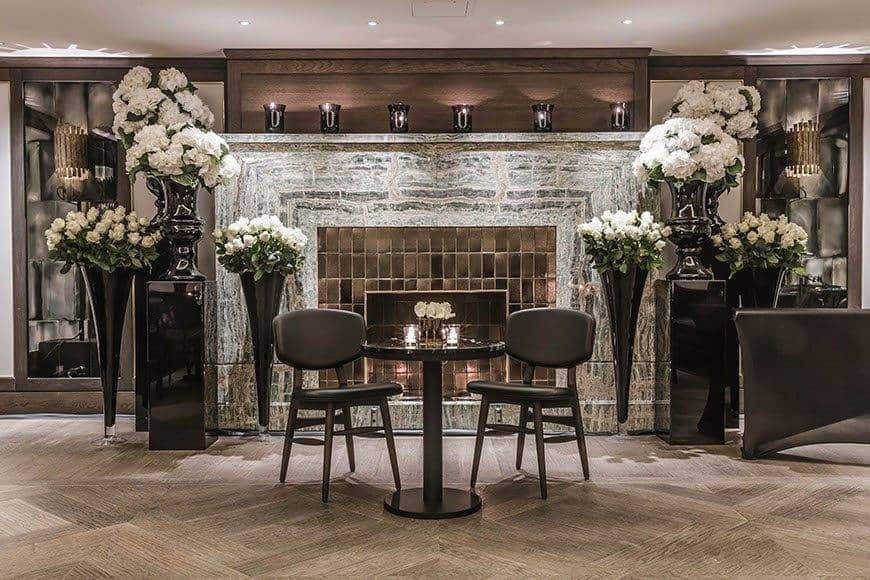 May Fair Private dining room fireplace - Luxury Wedding Gallery
