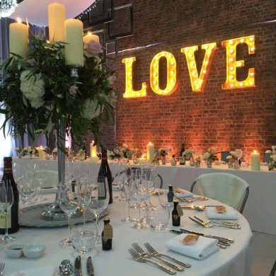 Luxe up a warehouse wedding