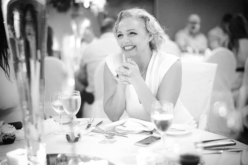 Wedding guest at dinner table on Cyprus wedding - Luxury Wedding Gallery
