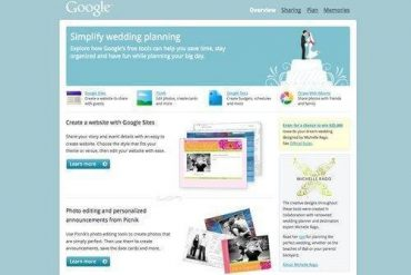 Google Moves In To The Wedding Space With Their Own Wedding Website!