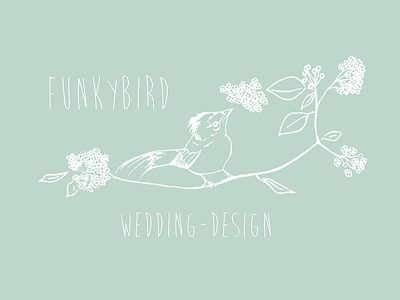 Funky Bird Wedding Design