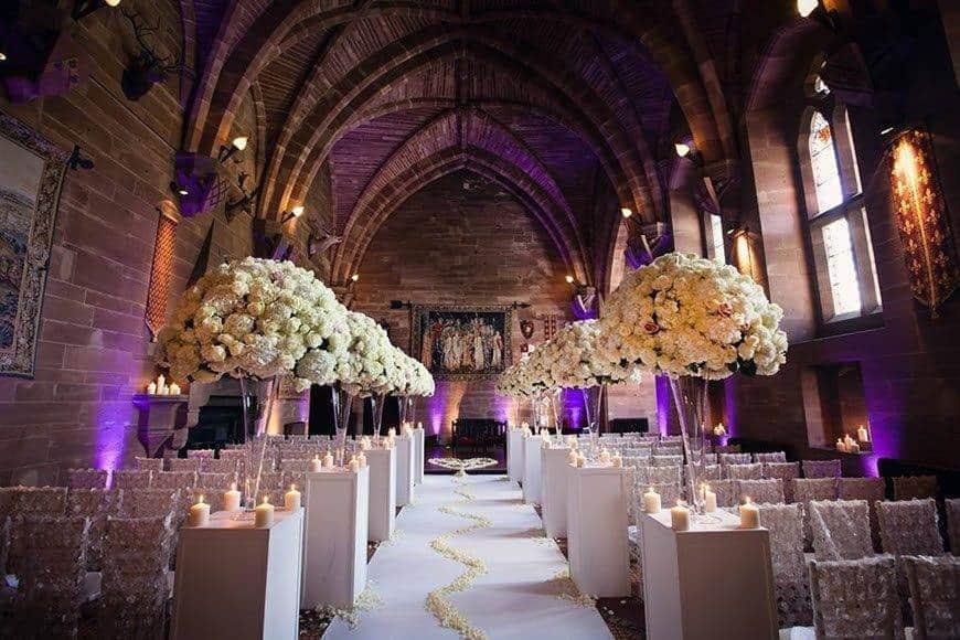 Great Hall aisle - Luxury Wedding Gallery
