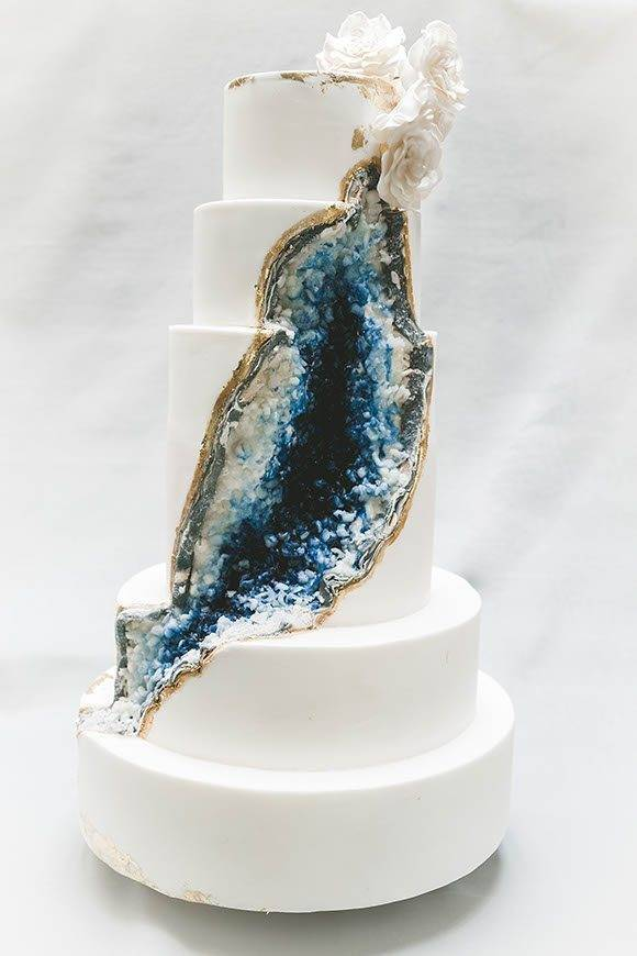 Boho Geode Tuscan Wedding Cakes  - Luxury Wedding Gallery