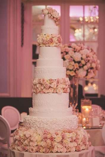 Luxury Wedding Cake At The Savoy