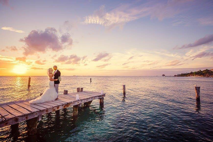 Sunhorse-Weddings-Dock-Bride-and-Groom-Ocean
