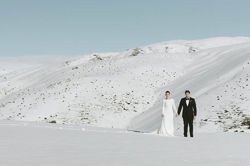 Winter whites Claudia Tom - Luxury Wedding Gallery