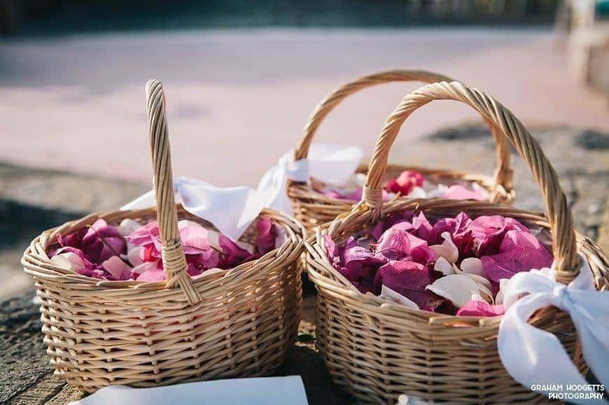 1. WEDDING FLOWER BASKETS - Luxury Wedding Gallery