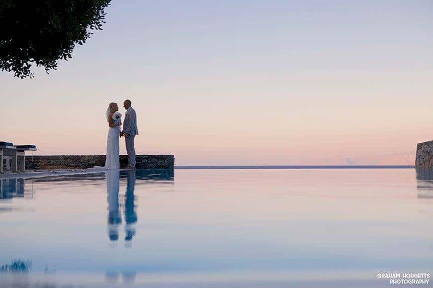 WEDDING COUPLE BY INFINITY POOL - Luxury Wedding Gallery