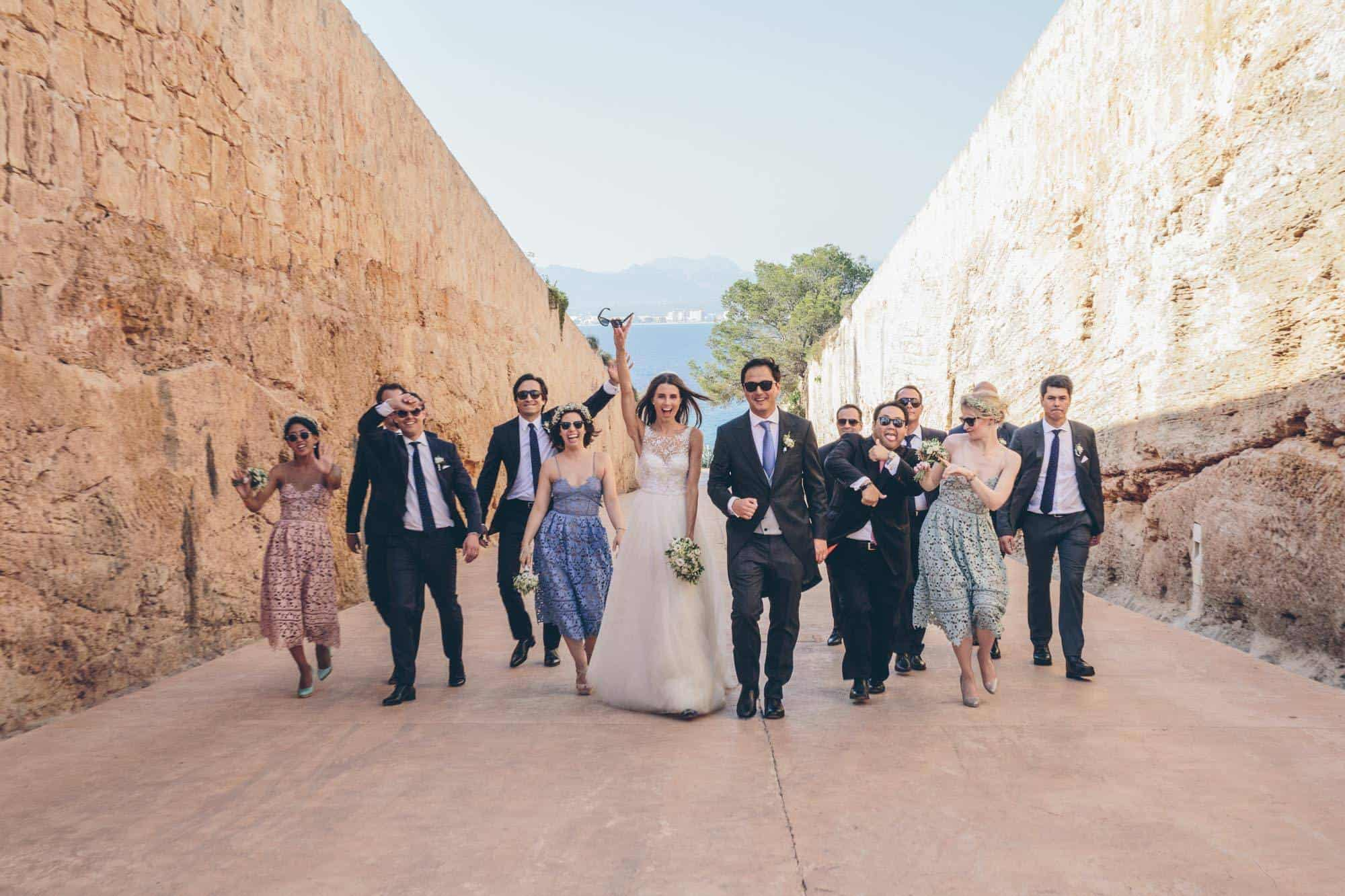 Married in Mallorca - the bridal party