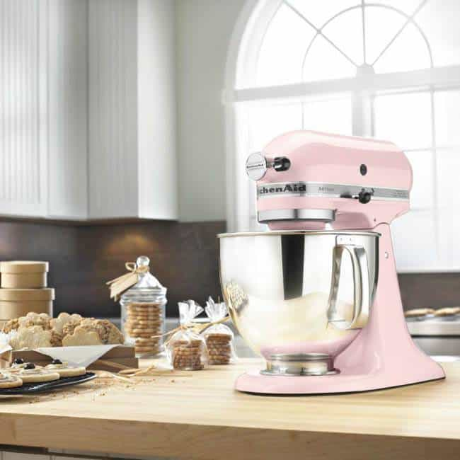 kitchenaid stand mixer ksm160 pink lifestyle - Luxury Wedding Gallery