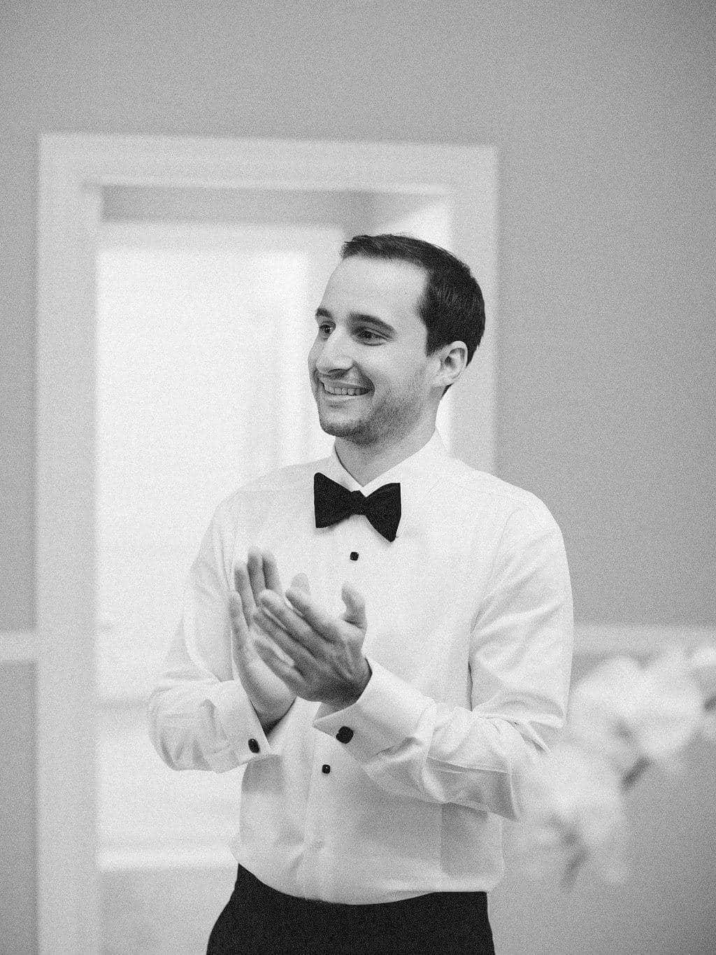 A Grand New York City Wedding Groom