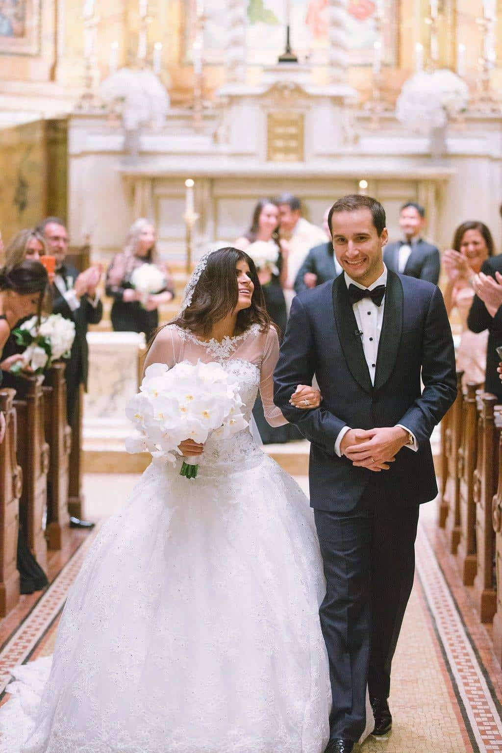 A Grand New York City Wedding Happy Couple