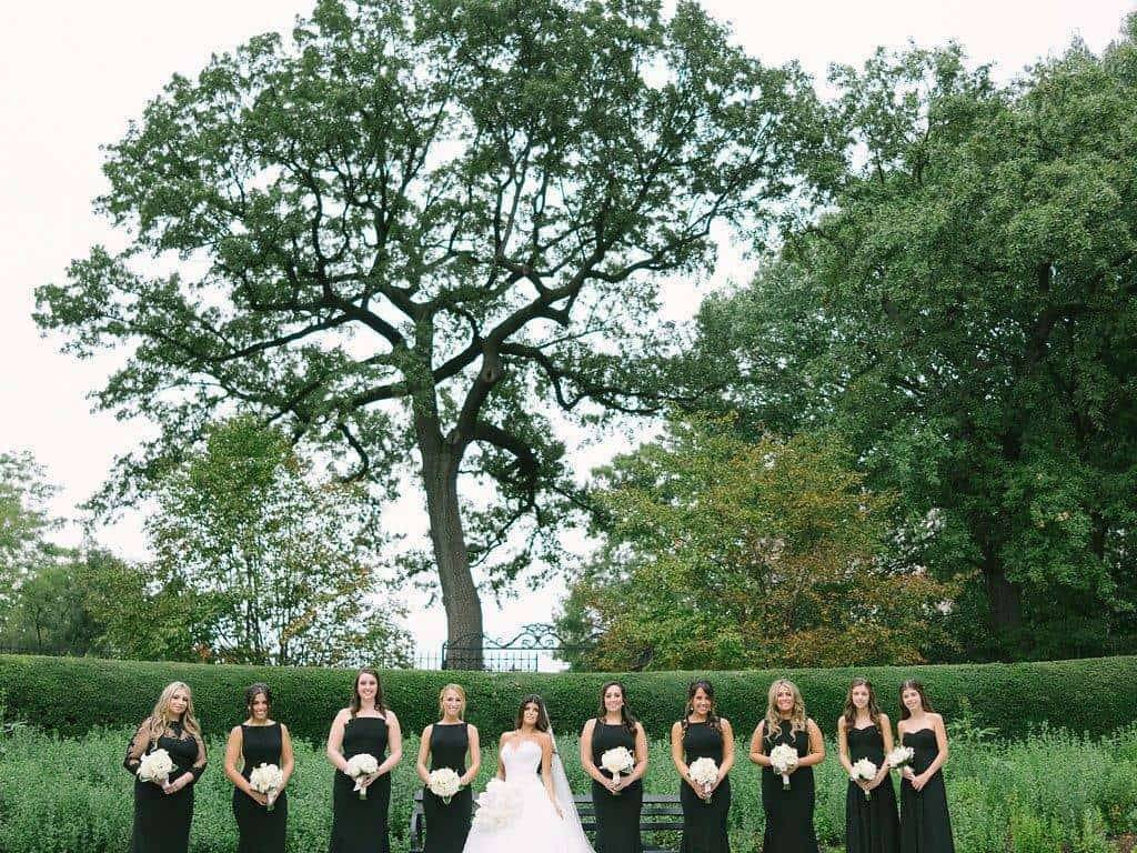 A Grand New York City Wedding wedding party the girls