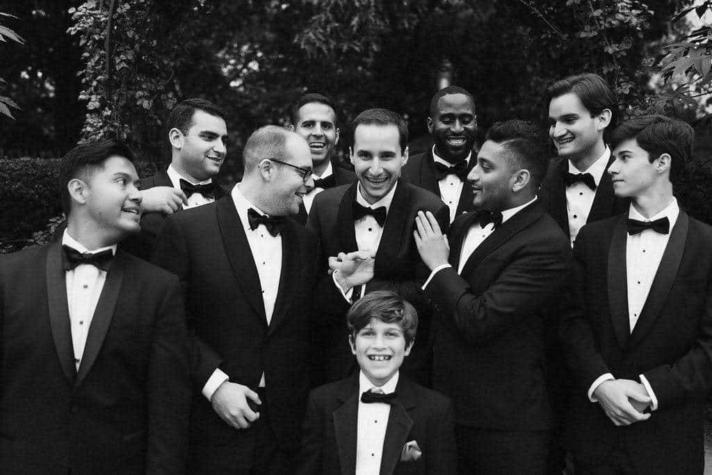 A Grand New York City Wedding The boys Black and White photo