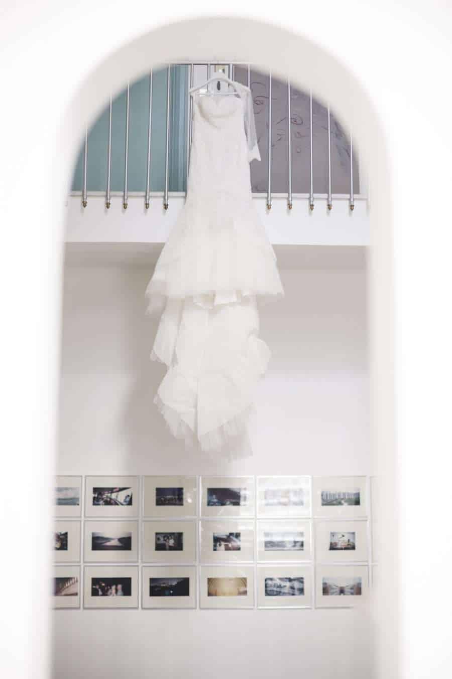 Outdoors Indoors wedding - the wedding dress
