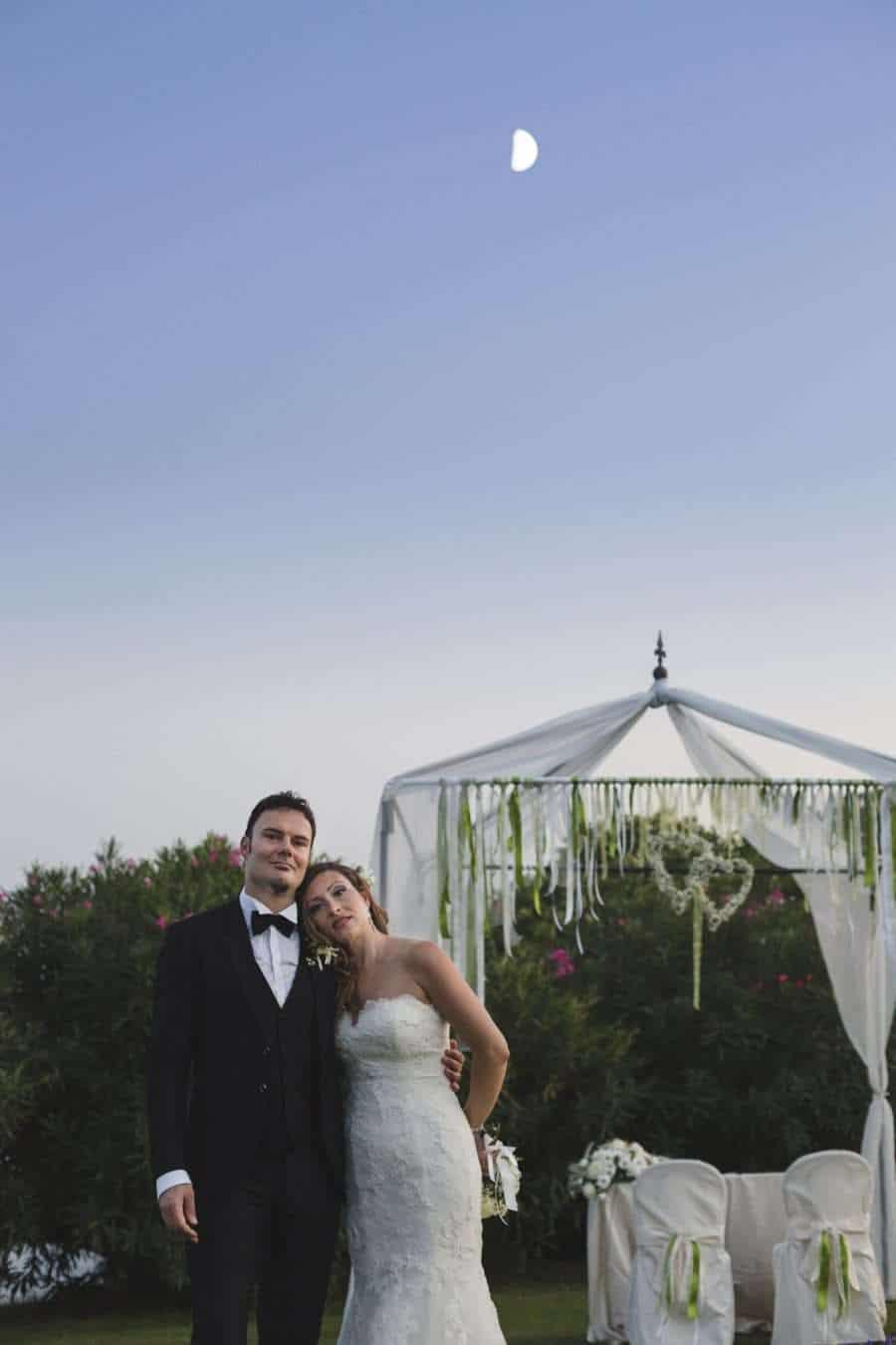Outdoors Indoors wedding - Bride and Groom