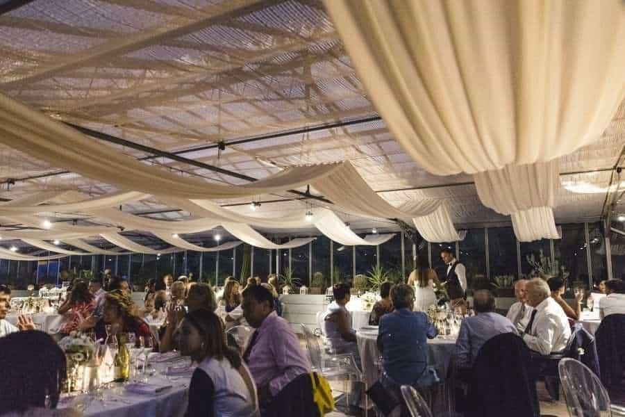 Outdoors Indoors wedding