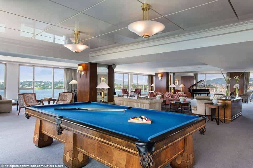 The most expensive suite in the world - at The Hotel President Wilson