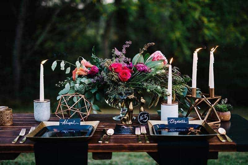 Metallic florals