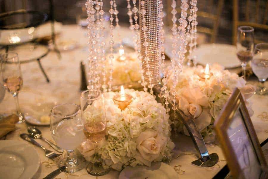 White Orchids and Crystal Chandeliers