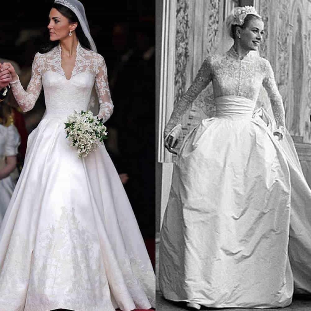 Royal wedding dresses through the years 5 star wedding blog Grace kelly wedding dress design