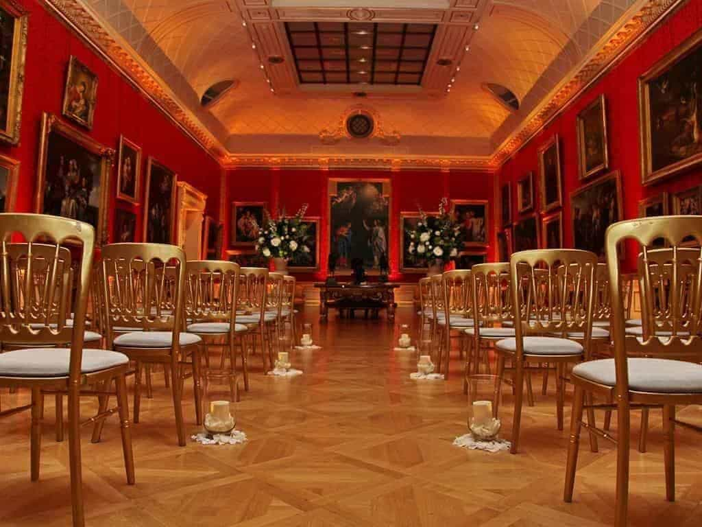 12 Wallace Collection Great Gallery symbolic ceremony photocredit cCharlotte Fielding - Luxury Wedding Gallery