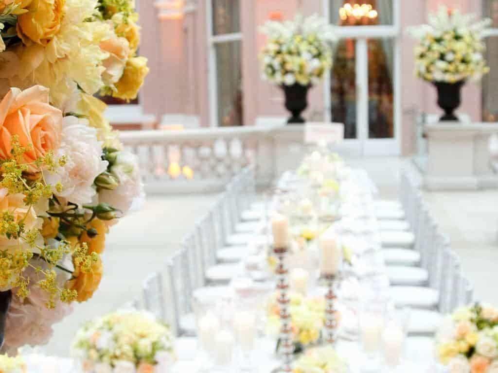 15 Wallace Collection Courtyard Wedding Breakfast - Luxury Wedding Gallery