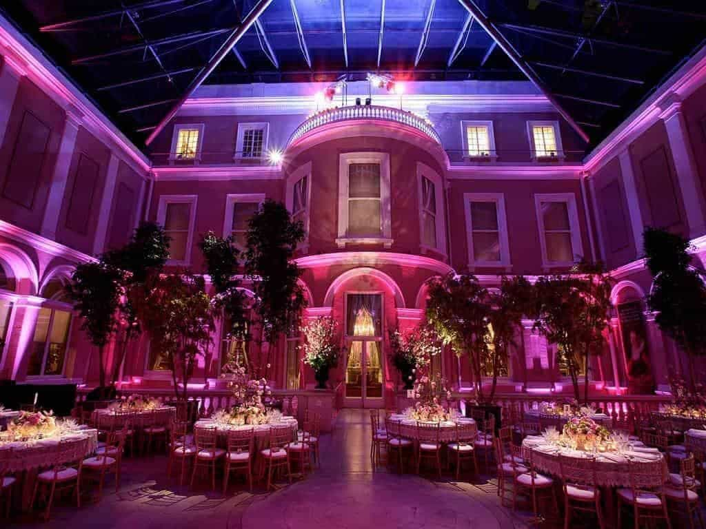 16 Wallace Collection Courtyard Wedding Breakfast facing south - Luxury Wedding Gallery