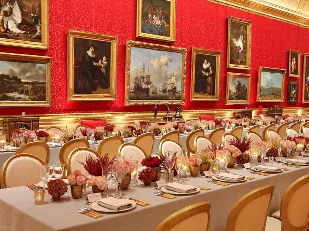 18 Wallace Collection Great Gallery Wedding breakfast photocredit cCharlotte Fielding - Luxury Wedding Gallery