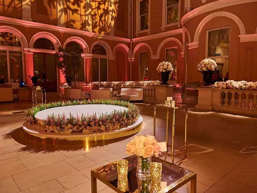 19 Wallace Collection Courtyard afterparty  photocredit cStuart Wood - Luxury Wedding Gallery